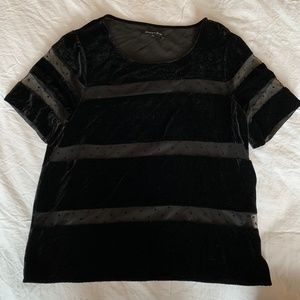 Broadway & Broome Madewell Velvet Party Top